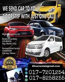 CAR FOR RENT AREA JB