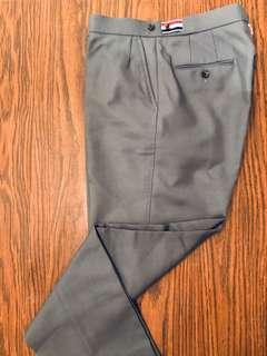 Thom Browne Classic Grey Pants Tricolor Side Strap