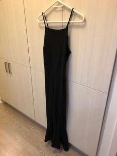 Nastygal Jumpsuit size 8 with frill bottom