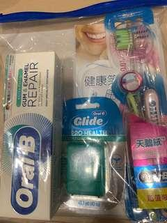 Oral B牙膏牙刷牙線套裝