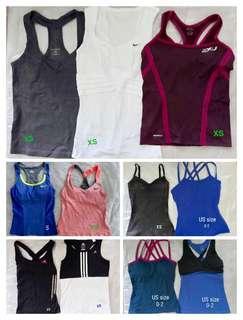 Sports tank top (Adidas, Reebok, Nike, Zobha, 2XU)