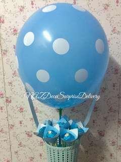 Hot Air Balloon Bouquet/ Surprise Delivery
