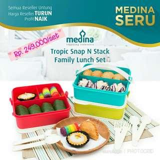 Tropic Snap N Stack Family Lunch Set