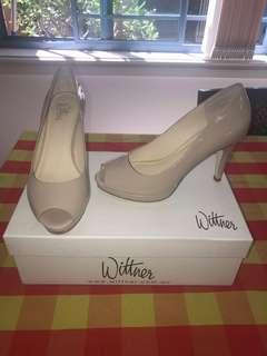Wittner Halty Nude Soft Patent Leather Heels