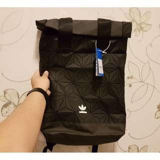 Instock Adidas 3D Mesh Roll Up Backpack x Issey Miyake in Black