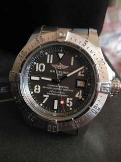 🚚 BREITLING 百年靈 Avenger Seawolf 復仇者 深潛 海狼 A17331 潛水錶 極度深潛 3000米 排氦 45mm 自動腕錶