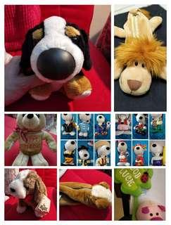 [gift idea] Soft/plush toys / PRECIOUS THOUGHTS pencil case / pencil box / decoration / kids toy / children / RUSS dog / nici lion / pig / flower / bear / teddy (BUY ANY 3 @ $8)