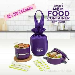 Smart Mom Food Container set Purple