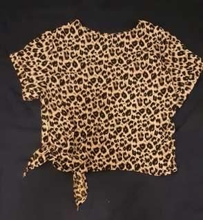 🈹️Korea animal print cropped top (original $399) #LadiesXmasGift