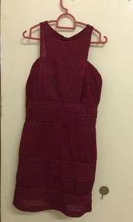 Maroon dresses(braless)