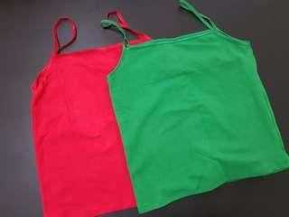 Women Tops selling at $4.90 free postage  left 1 green & 1 red