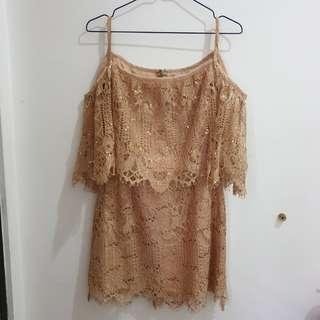 Nude Lacey Dress