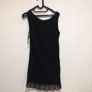 forever 21 mini black dress / dress hitam