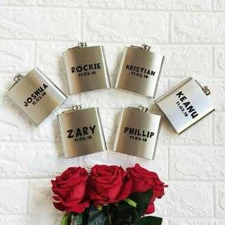 PERSONALIZED WINE FLASK
