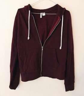 H&M burgundy hoodie