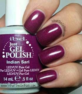 x2 IBD Gel Polish Indian Sari & Indie Oasis Brand New