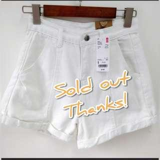 🈹🈹Uniqlo 優衣庫high waist white women shorts