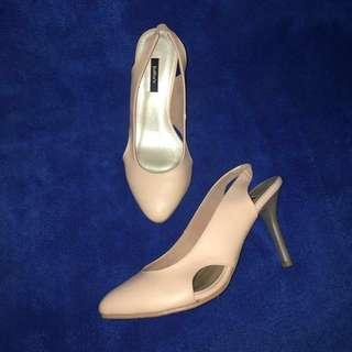 Sepatu Heels, Beige, 9 cm.