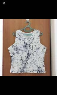 Marble Cropped Top