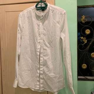 H&M White Shirt Mandarin Collar