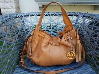 MK 2 way brown medium bag