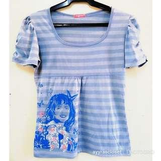 S-M size Striped Tee