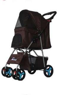 🚚 Brand New Doogo Pet Stroller Pram in Coffee Brown