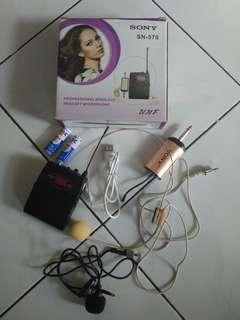 Mic Clip On Wireless + Clip On Headset Wireless SONY SN 570