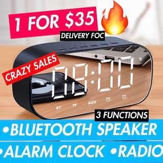 🚚 Minimalist Alarm Clock (Bluetooth Speaker) #next30