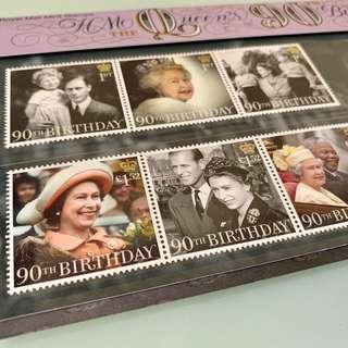2016 HM The Queen's 90th Birthday Stamps