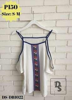 Aztec pattern top