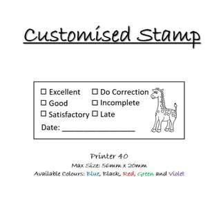 Customisable Stamp - For Teachers and Students (Self-ink)