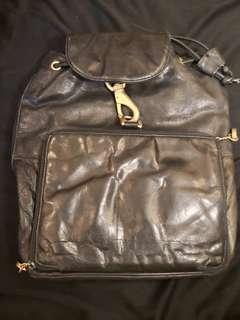 Perlina New York Black Leather Backpack