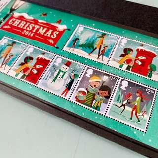 The Royal Mail's Christmas stamps 2014