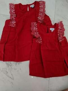 New Old Navy Red Top for Mom & Daughter