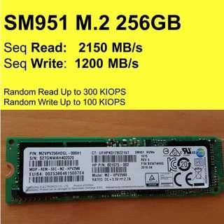 🚚 Samsung SM951 256GB M.2 PCIe 3.0 Internal SSD NVMe
