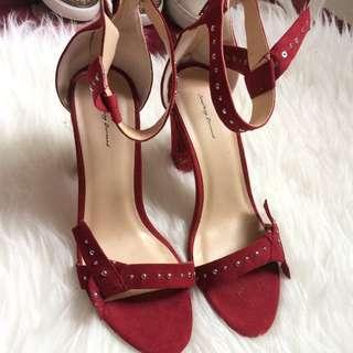 Zalora something borrowed red heel