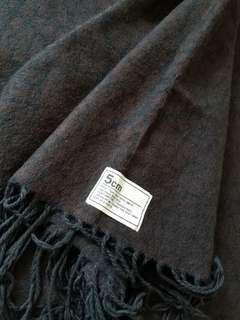 5cm 深啡色暗花頸巾