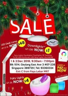 Lights warehouse sale $1