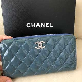 Chanel 漆皮銀包 Wallet coin bag card holder 銀包 logo 特別版 classic 拉鏈 #fastseller