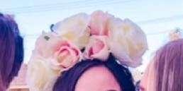White Flower Crown Headband