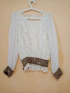 Blouse sifon +brokat