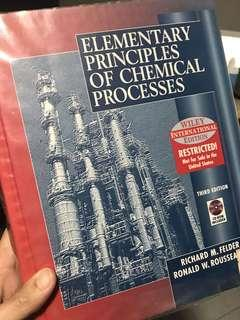 Elementary Principles of Chemical Processes, 3rd edition , Felder Rousseau