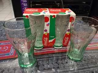 Coca Cola Green Contour Glass & Olympic Beijing 2008 edition