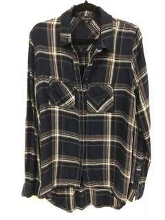 Authentic New Look plaid blue shirt