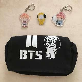 [FREE POSTAGE] BT21 Chimmy Jimin BTS Pencil Case Make Up Bag
