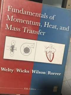 Fundamentals of Momentum, Heat, and Mass Transfer, 5th edition, Welty, Wicks, Wilson, Rorrer
