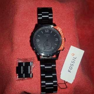 Fossil Q Nate Black Stainless Steel