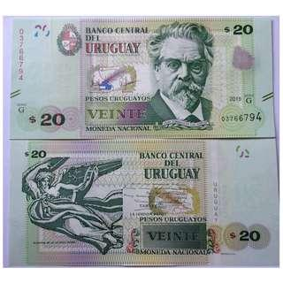 Uruguay 20 Pesos 2011-15 P New UNC