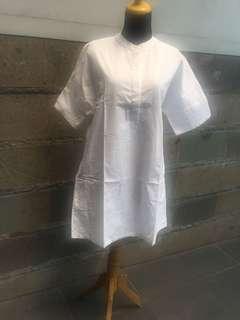 Dress putih cotton ink